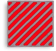 Off-White Stripe Badge (Grey Red) Canvas Print