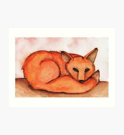 Fox in Watercolor Art Print