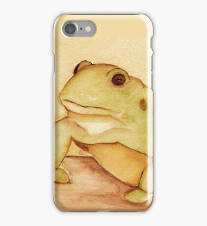 Frog in Watercolor iPhone Case/Skin