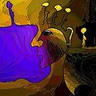 Purple Bag lady by Sarah Curtiss