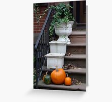 Autumnal front steps Greeting Card