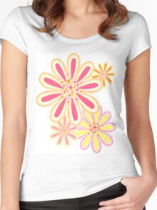 Petals and Dots Women's Fitted Scoop T-Shirt