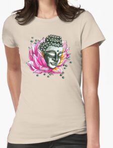 Lotus Buddha  Womens Fitted T-Shirt