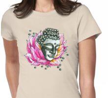 Lotus Buddha  Womens Fitted T-Shirt