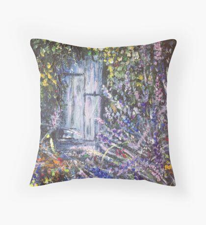 The Lavender Garden 2  Throw Pillow