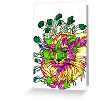 Stained Glass House Cat Trip Greeting Card