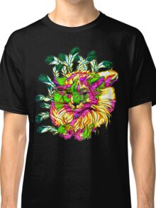 Stained Glass House Cat Trip Classic T-Shirt