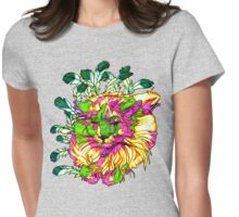 Stained Glass House Cat Trip Womens Fitted T-Shirt