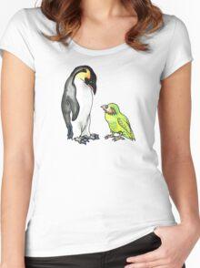 flightless friends Women's Fitted Scoop T-Shirt