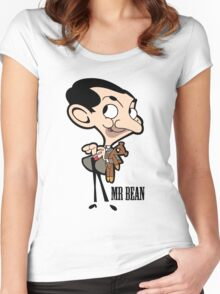 Mr Bean - Cartoon Women's Fitted Scoop T-Shirt