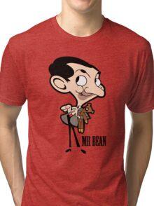 Mr Bean - Cartoon Tri-blend T-Shirt