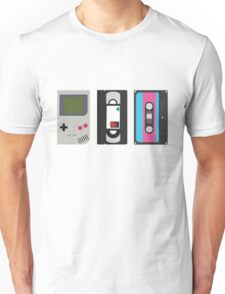 Gameboy, Cassette, and VHS Classic (white) Unisex T-Shirt