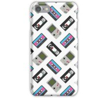 Gameboy, Cassette, and VHS Classic (white) iPhone Case/Skin