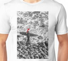 santa surf - beach thoughts Unisex T-Shirt