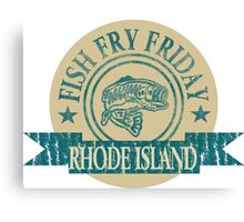 RHODE ISLAND FISH FRY Canvas Print
