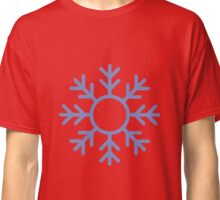 Blue Snowflake Ornament Classic T-Shirt