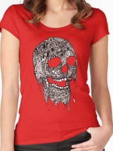 Brain Melter (B&W) Women's Fitted Scoop T-Shirt