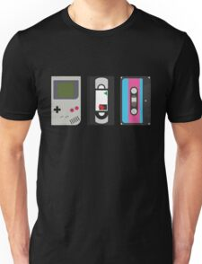 Gameboy, Cassette, and VHS Classic (black) Unisex T-Shirt