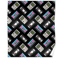 Gameboy, Cassette, and VHS Classic (black) Poster
