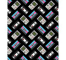 Gameboy, Cassette, and VHS Classic (black) Photographic Print