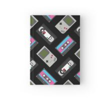 Gameboy, Cassette, and VHS Classic (black) Hardcover Journal
