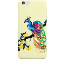 Peacock in a Peach Tree  iPhone Case/Skin