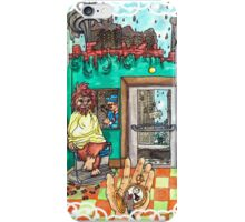 Metallic Pudding Illustrated iPhone Case/Skin