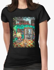 Metallic Pudding Illustrated Womens Fitted T-Shirt