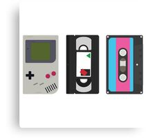 Single Gameboy, Cassette, and VHS Classic Canvas Print