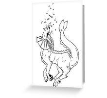 Piscean Pocket Monster Greeting Card