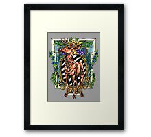 Rival Stag Framed Print