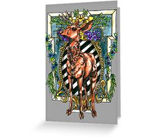 Rival Stag Greeting Card
