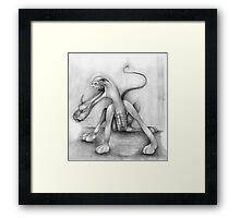 Francis Bacon's Dog. Framed Print