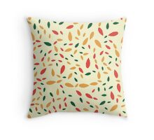 Abstract seamless pattern with color leaf Throw Pillow