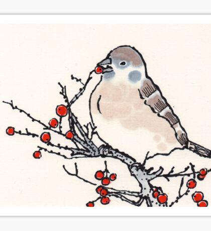 Winter Sparrow Sticker