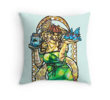 Khajiit Art Neauvou Throw Pillow