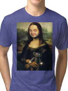 Mr Bean - Mona Lisa Tri-blend T-Shirt