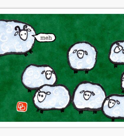 Japanese Sheep Say Meh Sticker