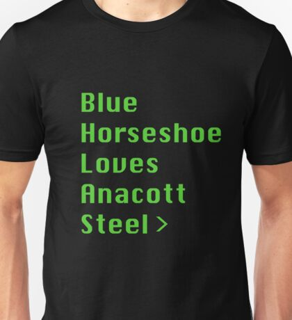 Blue Horseshoe Loves Anacott Steel Unisex T-Shirt
