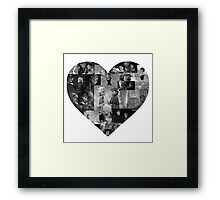 I Heart Frozen Framed Print