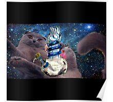 space cat bong art Poster