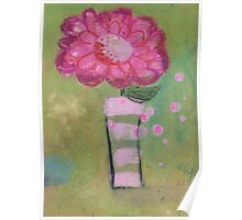 Pink mystery flower Poster
