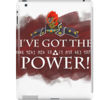 Ganondorf and the Triforce of Power iPad Case/Skin