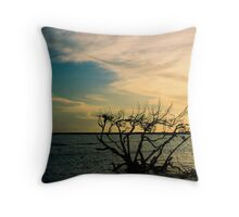 Watering Tree Throw Pillow