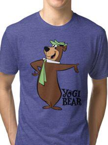 Yogi Bear - Bbo Bear - Cartoon Tri-blend T-Shirt