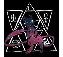dark ancient mew in a black bubble  Photographic Print