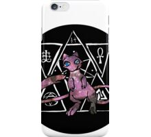 light ancient mew in a black bubble iPhone Case/Skin