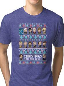 Lil Doc Who Christmas Jumper Tri-blend T-Shirt