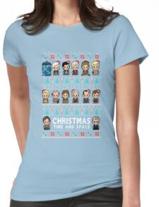 Lil Doc Who Christmas Jumper Womens Fitted T-Shirt