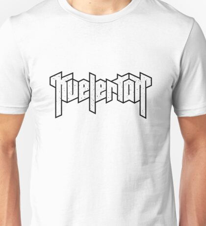 KVELERTAK LOGO (White) Unisex T-Shirt